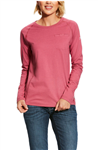 National Safety Apparel Brand Women's Long Sleeve Henley T-Shirt