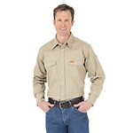 Wrangler Riggs Brand FR Snap Front Solid Work Shirt