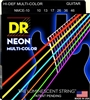 Hi-Def Neon Multi-Color Coated Electric Guitar Strings 10-46 Medium