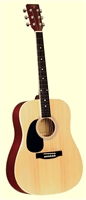 Indiana Dreadnought Natural Finish Lefty Guitar