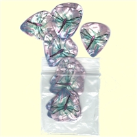 Pick Chick Light Purple Dragonfly Guitar Picks