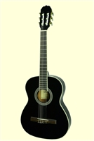 Glen Burton Black Conservatory 3/4 Classical Guitar