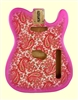 TBF-PKP Pink Paisley Finished Replacement Body for Telecaster