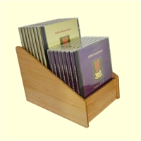 2 Tier 1x2 CD/DVD Storage Wood Display
