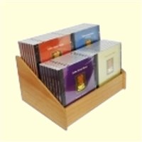 2 Tier 2x2 CD/DVD Storage Wood Display