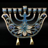 1063-B- Menorah, jeweled  6.5""