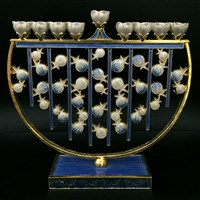 1065- Menorah, jeweled  7""