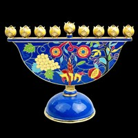 1079- Menorah, jeweled, 8""
