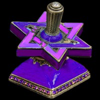 1109- Star David Dreidel, jeweled