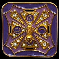 1115-F- Dreidel, Jeweled