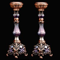 "1131-PR- Candlestick, jeweled, 5.5"" 2 PCS"