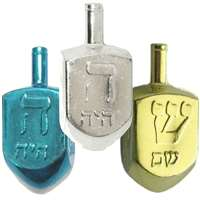 0114- Metallic Dreidels - assorted colors