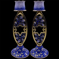 "1142- Candlesticks, jeweled, 5.5"" PAIR"