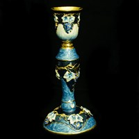 "1151- Candlestick, jeweled, 6"" SINGLE"