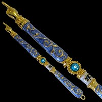 1170- Torah Pointer (Yad), jeweled,8""