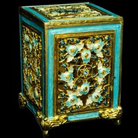 1186-A- Tzedakah Box - Jeweled