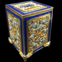 1186-B- Tzedakah Box - Jeweled