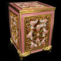 1186-C- Tzedakah Box - Jeweled