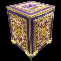 1186-D- Tzedakah Box - Jeweled