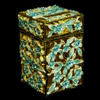 1188- Tzedakah Box - Jeweled