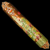 1209- Mezuzah Case, jeweled, large