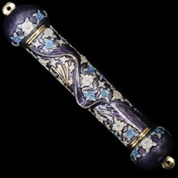 1210- Mezuzah Case, jeweled, large