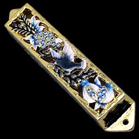 1212- Mezuzah Case, jeweled, small