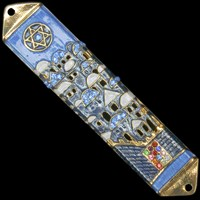 1215- Mezuzah Case, jeweled, medium