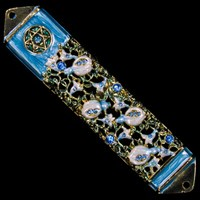 1219- Mezuzah Case, jeweled, medium