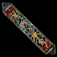 1220- Mezuzah Case, jeweled, small
