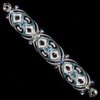 1223- Mezuzah Case, jeweled, medium