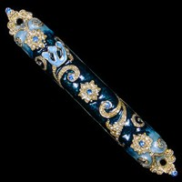 1228- Mezuzah Case, jeweled, small