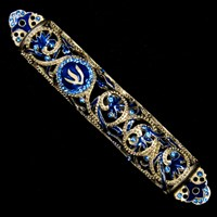 1233- Mezuzah Case, jeweled, small