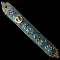 1244- Mezuzah Case, jeweled, small