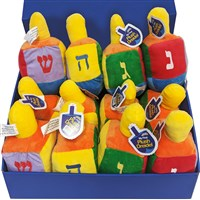 0147- Large Plush Dreidel 8""
