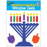 0177-B- Window Gel Fun - Chanukah Menorah