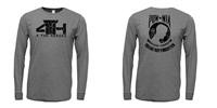 4 T H POW-MIA Tri Blend Long Sleeve Tee