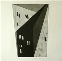 """Marjorie Plenge, Swiss (1972- ) Shadow 2, 2014, Etching/Aquatint"