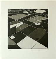 """Marjorie ""Marjorie Plenge, Swiss (1972- ) Flat City, 2014, Aquatint"