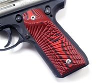 BullsEye G10 Grips Ruger 22/45 Mark 3 RIGHT Hand Thumbrest Red