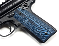 "BullsEye G10 Grips Ruger Mark 4 IV 22/45 ""Sunburst"" Pattern Blue Black"