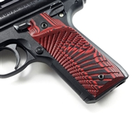 BullsEye G10 Grips Ruger Mark 4 IV 22/45 RIGHT Hand Thumbrest Red