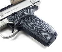 BullsEye G10 Grips S&W Victory SW22 RIGHT Hand Thumbrest Black Gray