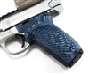 BullsEye G10 Grips S&W Victory SW22 RIGHT Hand Thumbrest Blue Black