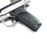 BullsEye G10 Grips S&W Victory SW22 RIGHT Hand Thumbrest OD Green Black