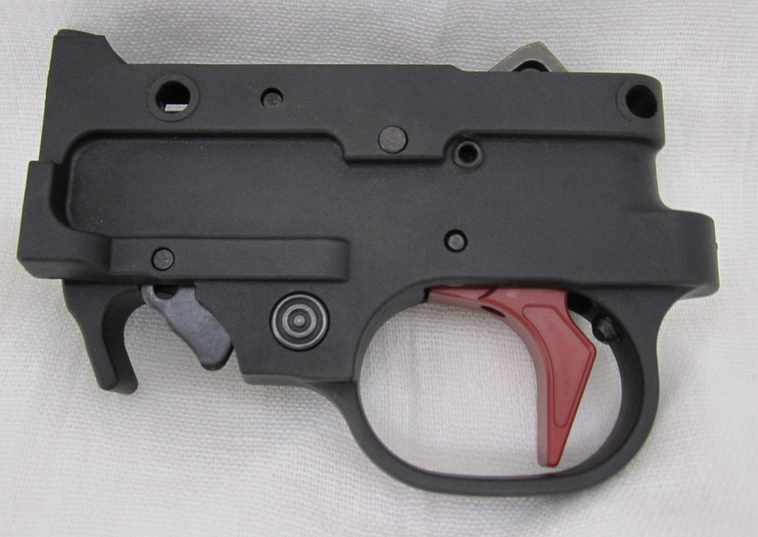 Brimstone BX Trigger Assembly for Ruger 10/22 Rifle and Charger Pistol  Crimson Red