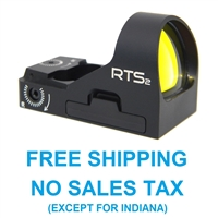 C-More RTS2 Mini Red Dot Sight w/Rail Mount 8 moa