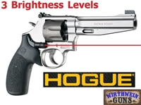 Hogue Black Laser Enhanced (LE) S&W Round Butt K&L Frames Grips 19080