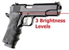 Hogue Black (LE) Laser Enhanced 1911 Grips 45080