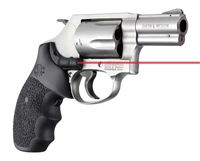 HOGUE BLACK Laser Enhanced (LE) S&W Round Butt J-Frame Grips 60080